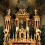 Altar after gilding conservation services on St. Cantius altar in Chicago.