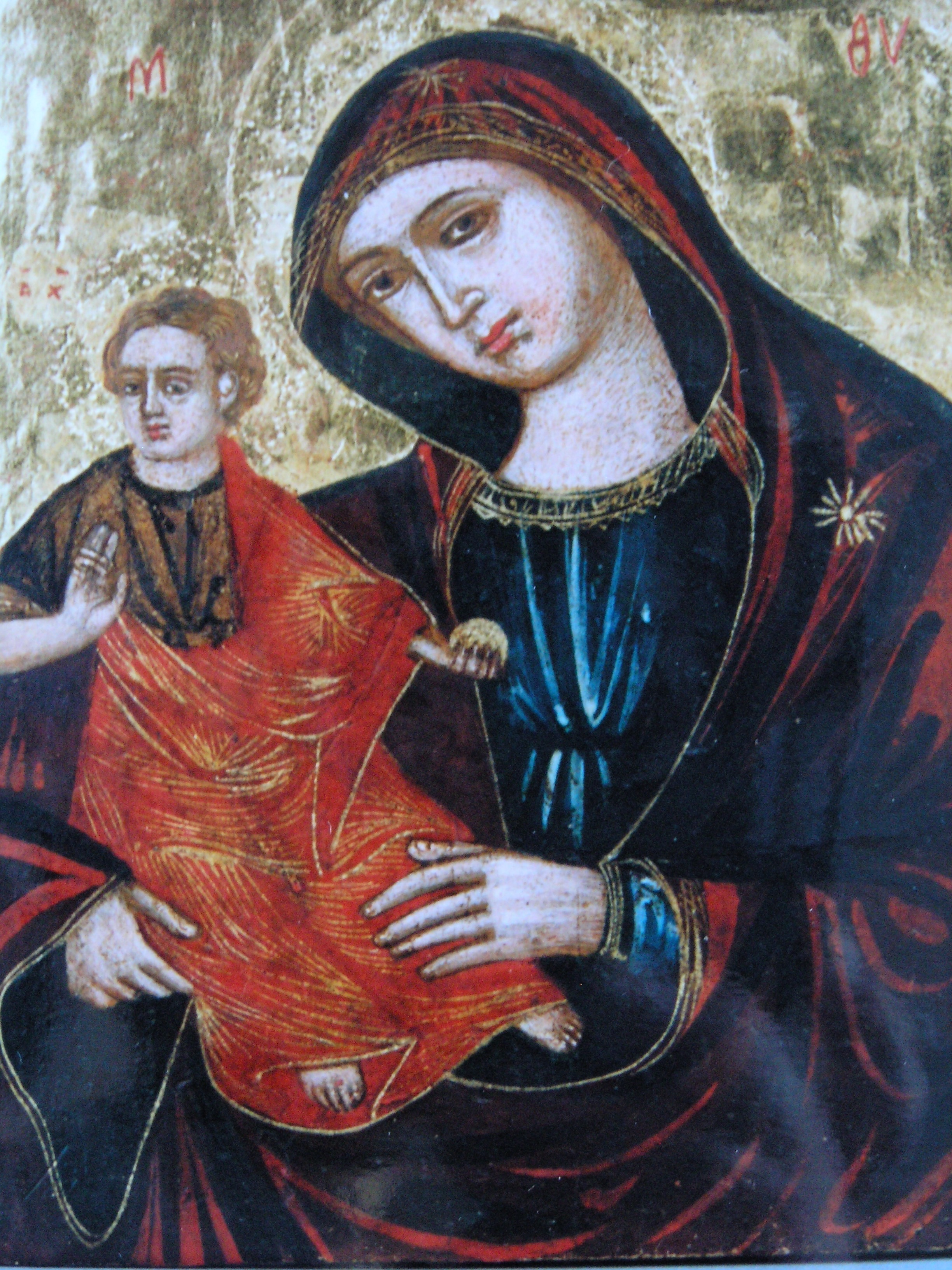 Photo of icon after painting conservation