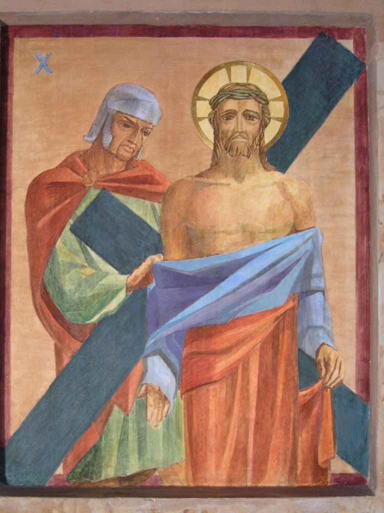 Photo of station of the cross after painting conservation