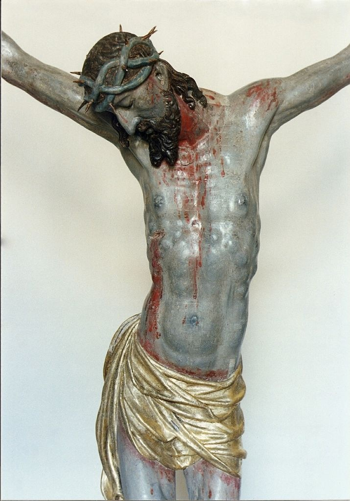 Jesus Christ after sculpture restoration