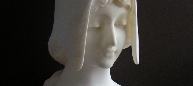 Finished marble sculpture restoration