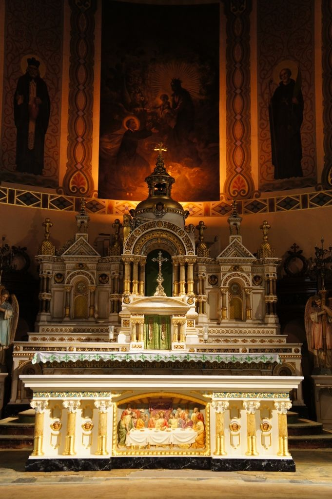 Tabernacle from St. Kostka Church after gilding restoration