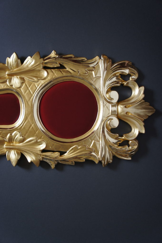 Professional photograph of ornament after gilding