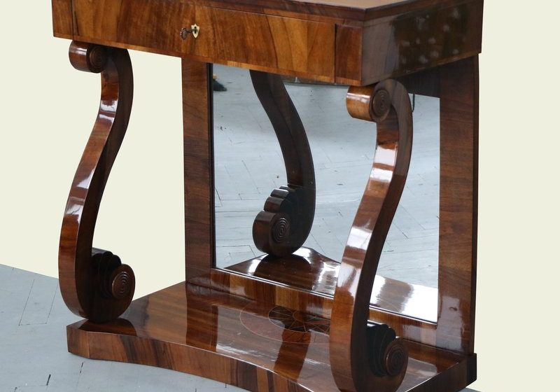 Vienna Biedermeier furniture after restoration.